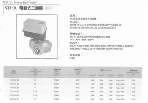 S37-3L電動式三通閥