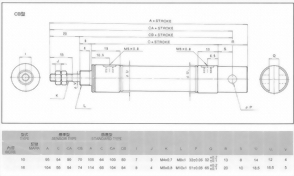 槓桿式直線壓板氣缸CB型
