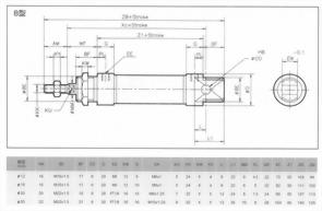 MI系列B型空壓缸