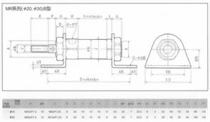 MR系列(ø20.ø30)B型空壓缸2