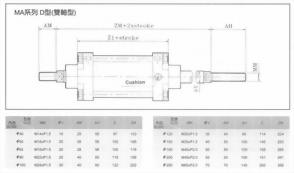 MA系列D型(雙軸型)空壓缸