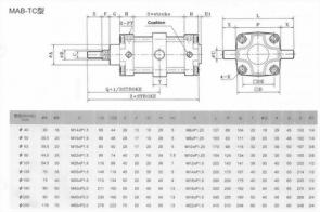 MA系列MAB-TC型空壓缸