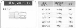 SCSF不銹鋼C式快速接頭插座