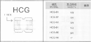 SUS不銹鋼接頭-HCG