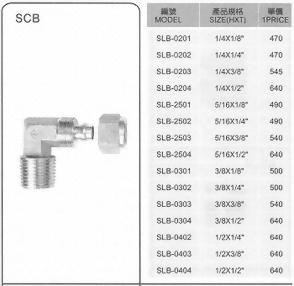 SLB不銹鋼管接頭