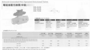 油壓元件-電磁油壓切換閥(中座)
