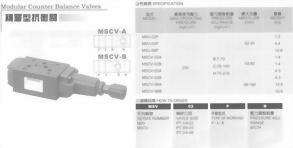 油壓元件-積層型抗衡閥