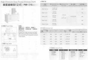 油壓單元組合-高壓齒輪型(立式)