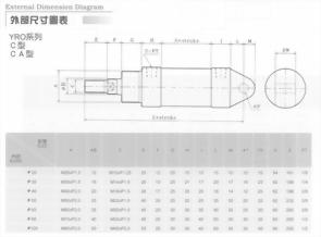 YRO系列C型CA型油壓缸