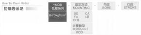 YMO系列YMOB-FA型油壓缸