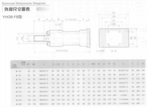 YHO系列YHOB-FB型油壓缸