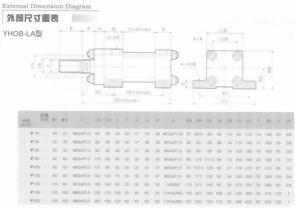 YHO系列YHOB-LA型油壓缸