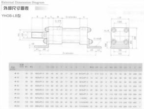 YHO系列YHOB-LB型油壓缸