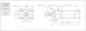 HC10系列FA型ø90x2節油壓缸