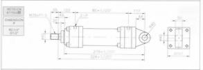 HC10系列CA型ø110x2節油壓缸