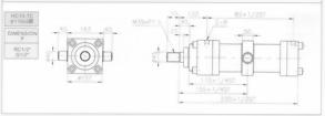HC10系列TC型ø110x2節油壓缸