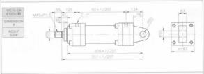 HC10系列CA型ø125x2節油壓缸
