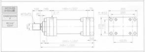 HC10系列FB型ø160x3節油壓缸