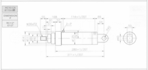 HC10系列CA型ø110x3節油壓缸