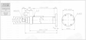HC10系列FB型ø125x3節油壓缸