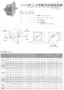 GVD型立式雙軸型齒輪減速馬達