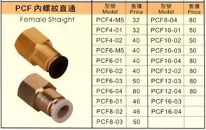 PCF內螺紋直通
