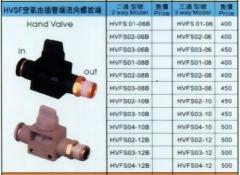 HVSF空氣由插管端流向螺紋端