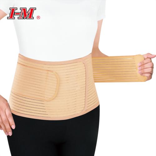 Breathable abdominal binder, fasten free