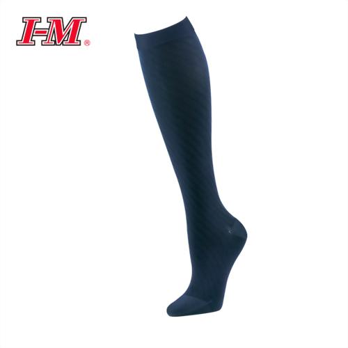 時尚彈性小腿襪(花葵藍)