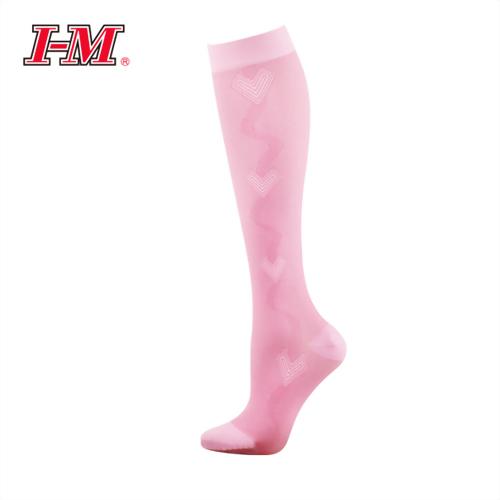 時尚彈性小腿襪(櫻花粉)