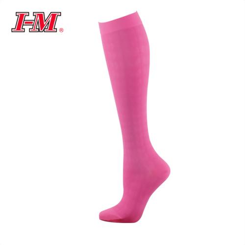 時尚彈性小腿襪(蜜桃粉)