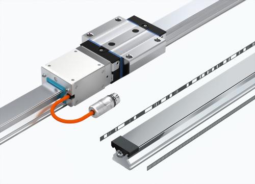 滾柱導軌 - 附鋼製孔蓋和內製測量刻度[R1806 .5. ..]