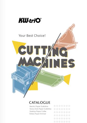 2019 Guillotine Catalogs