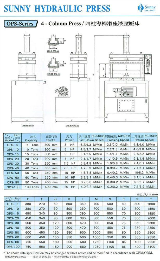 4-Column small Hydraulic Press machines