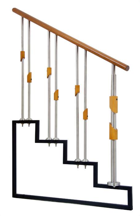 鋼木1號+2號梯花+鋼木1號柱頭