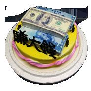 金錢發財造型蛋糕