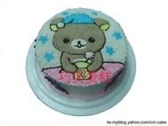 拉拉熊喝茶造型蛋糕