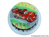 奔馳的閃電麥坤汽車蛋糕
