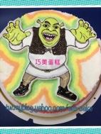 史瑞克(2D)造型蛋糕