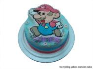馬力歐半立體造型蛋糕