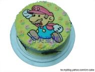 馬力歐平面造型蛋糕