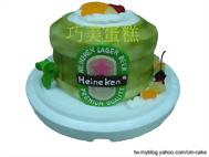 海尼根啤酒桶造型蛋糕