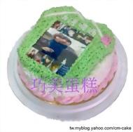 相片+台啤球衣造型蛋糕