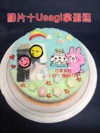 相片+Usagi拿蛋糕