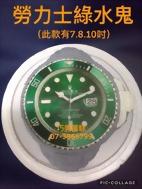 勞力士綠水鬼(此款有7.8.10吋)