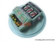 吃角子老虎造型蛋糕