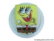 快樂的海綿寶寶(立體)造型蛋糕