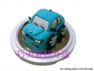 藍色BMW汽車造型蛋糕
