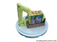 相片+怪手立體造型蛋糕