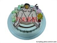 相片+噴火女郎造型蛋糕